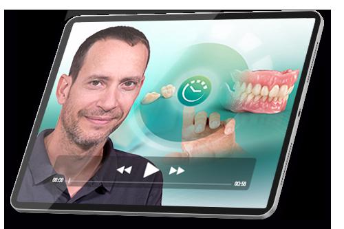 """Una tableta con una captura de pantalla del curso de éxito """"Prótesis digital para iniciadores""""."""