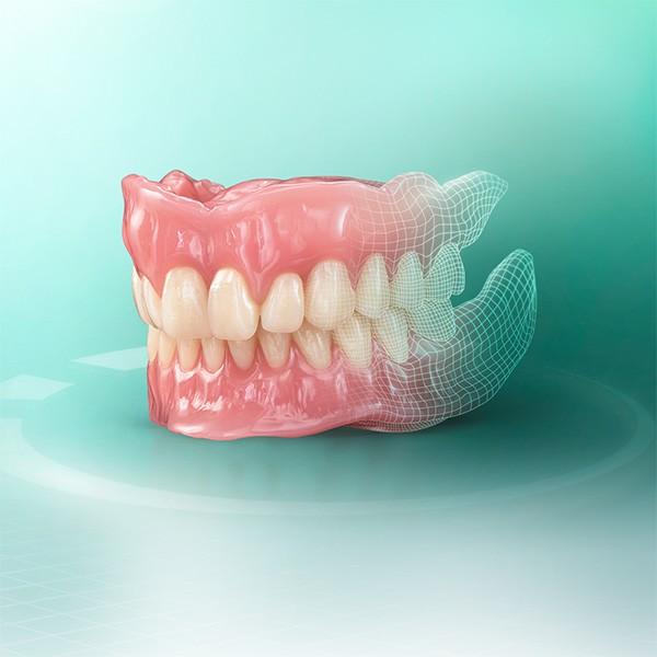 Prótesis dental de material VITA VIONIC confeccionada digitalmente.