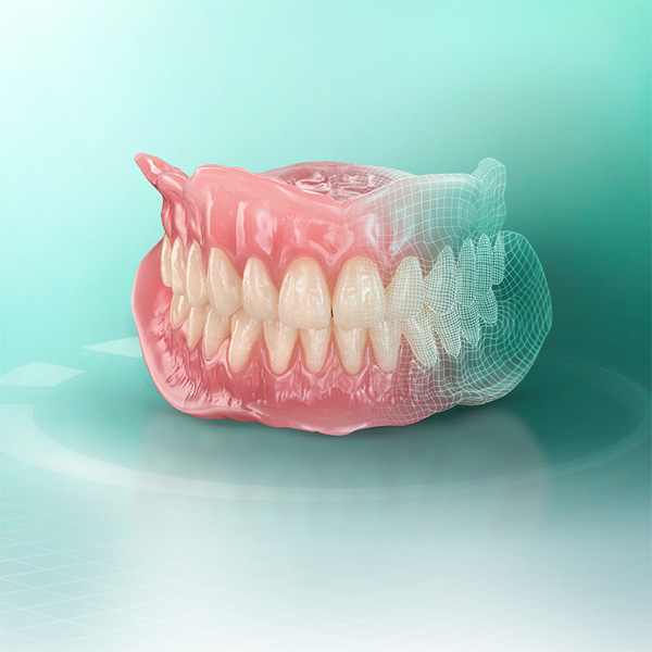 Digitally fabricated denture made of VITA VIONIC material