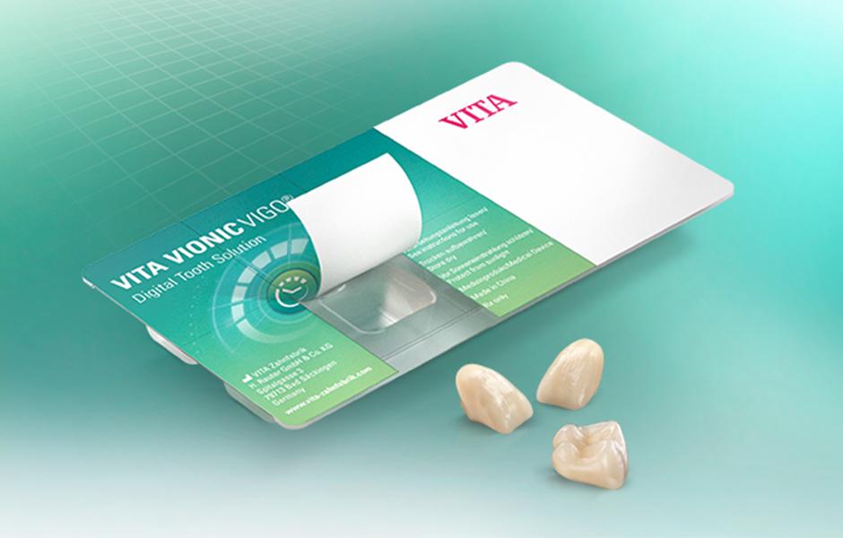 Blister pack with VITA VIONIC VIGO teeth