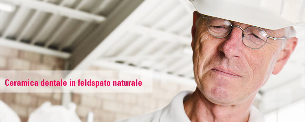 Ceramica dentale in feldspato naturale