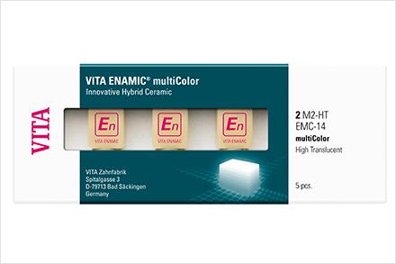 VITA ENAMIC multiColor Verpackung mit Blöcken