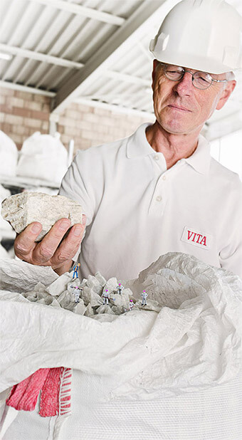 VITA Dental ceramics made of the natural product feldspar