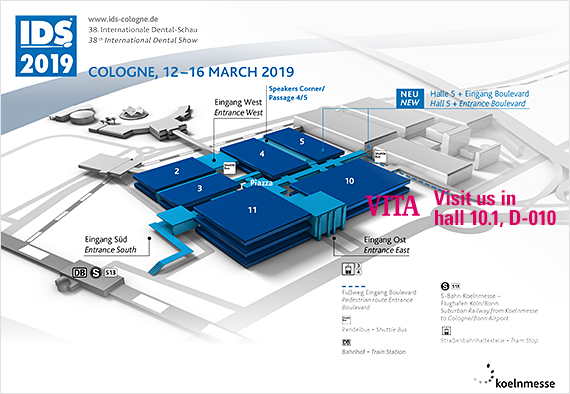 VITA at the IDS 2019. Hall plan