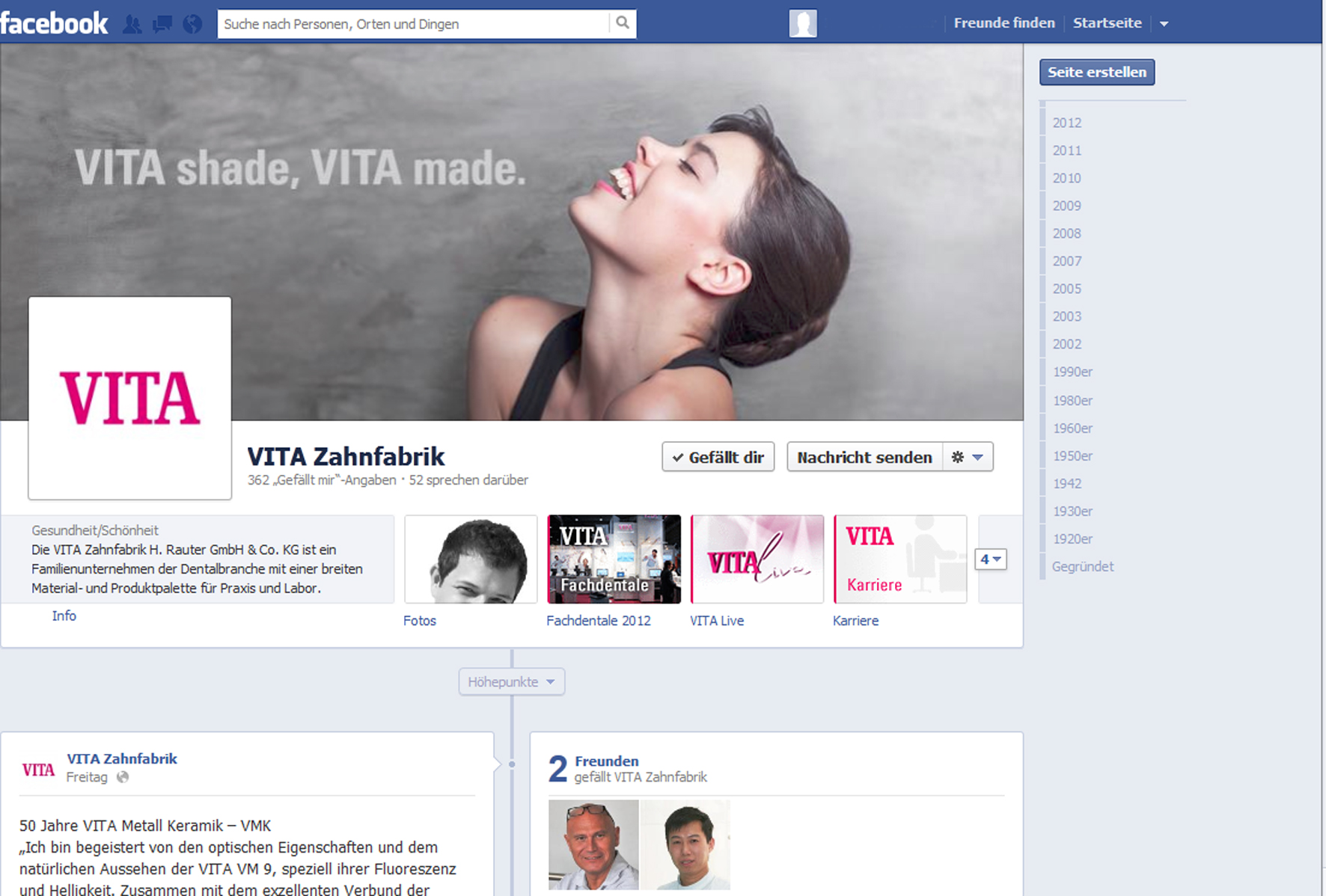 VITA auf Facebook